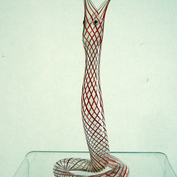 Murano handblown snake from the 1950's - Art Glass