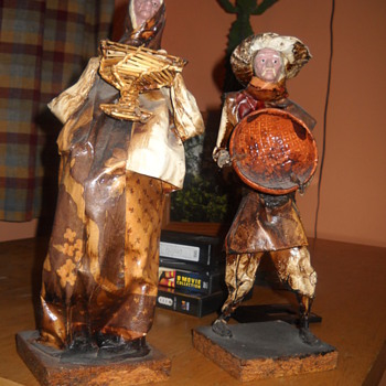 Man and woman paper mache dolls? - Dolls