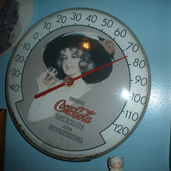 coca cola thermometers - Coca-Cola