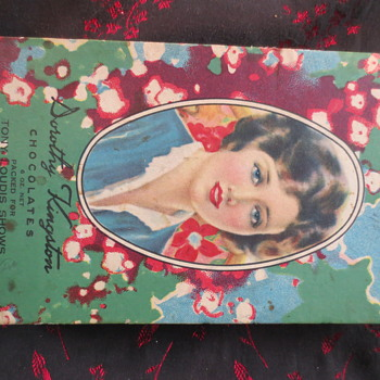 vintage chocolate box - Advertising