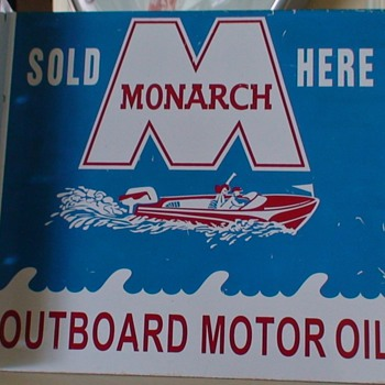 Monarch Metal Boat Sign