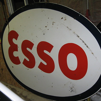 all day Road trip find 1953 ESSO Sign - Petroliana
