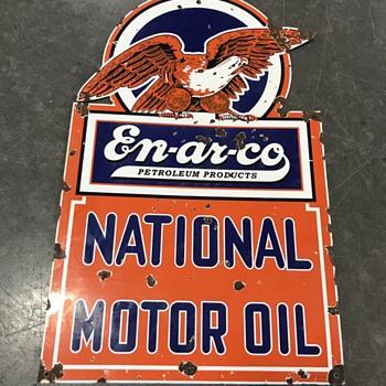 En-Ar-Co National oil company sign  - Petroliana
