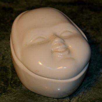 Porcelain Face Box - Japanese? Chinese? - Pottery