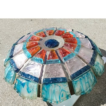 20 kg flush Poliarte lamp - Art Glass