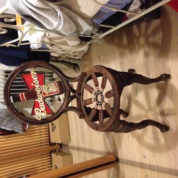 1950s cast iron Budweiser bistro chair