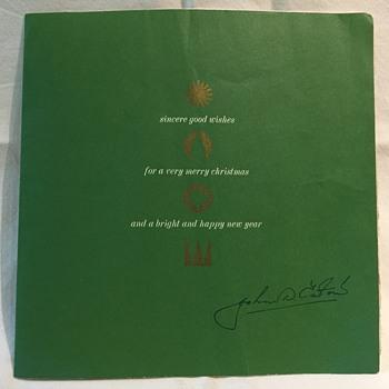 The T. EATON Co. Limited, Winnipeg John D. Eaton Christmas Card