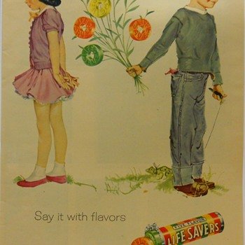 Life Savers Advertising --Say it with Flavor--, 1956 - Advertising