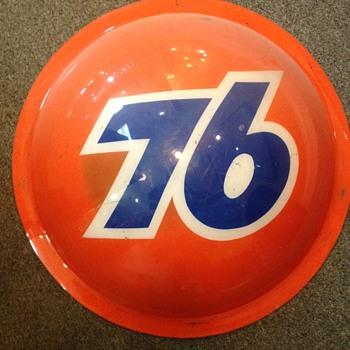 Union 76 Plastic Round Sign