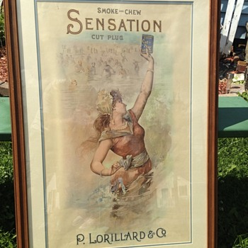 Sensation Cut Plug Tobacco Poster