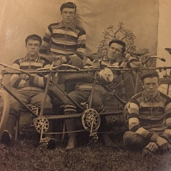 Quad Cycle tintype from the 1890s