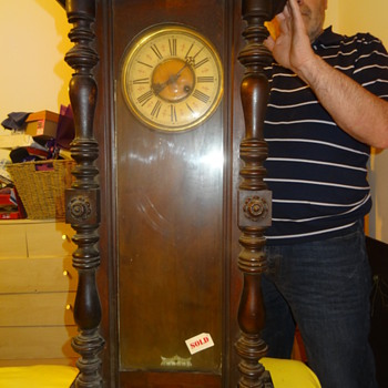 tall wooden clock - Clocks