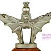 Rare Art Deco Sasportas Batman Circa 1920, Chrome Plated Bronze Car Mascot