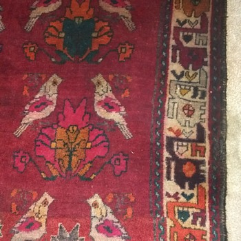 "Antique Persian Rug 65x91"" - Rugs and Textiles"