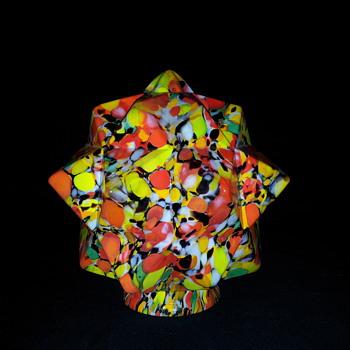 Czech Art Glass Star Shade 6