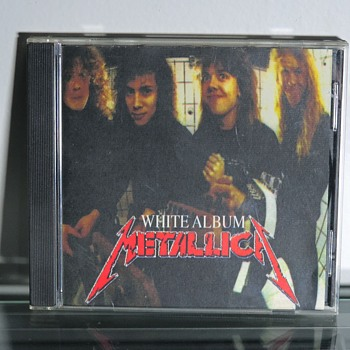 Metallica White Album Rare Bootleg CD Compact Disc Demo Songs 1987 Rock Band  Heavy Metal Compilation - Records