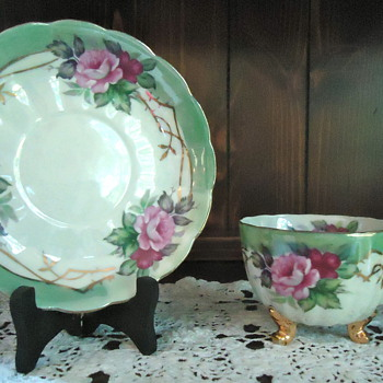 Lefton and Elizabethan Cups & Saucers - China and Dinnerware