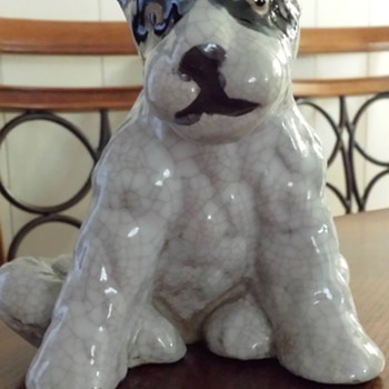 Pottery Terrier Dog - Figurines
