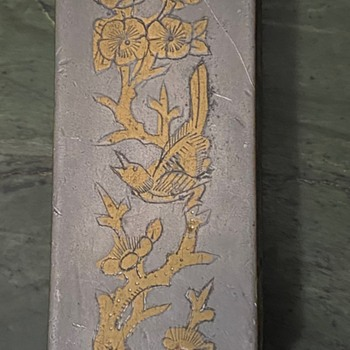 Paktong [Chinese Pewter?] Box with Brass Inlay - Silver