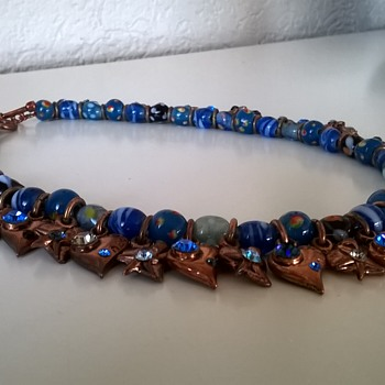 Thrift Shop Find! Rodrigo Otazu Murano Glass Beads/Swarovski Necklace  - Costume Jewelry