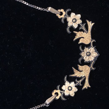 Damascene Necklace - Costume Jewelry