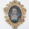 Portrait miniature of young noblewoman