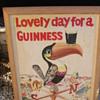 Guinness Tucan beer advertising painting on board