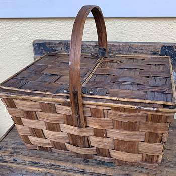 Nice Split Elm Picnic Basket - Furniture