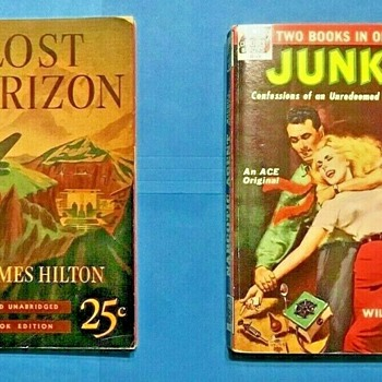 Lost Horizon, James Hilton, Pocketbooks #1,  NY, May 1939.  Junkie/Narcotics Agent, William Burroughs, Ace D-15 NY, 1953   - Books