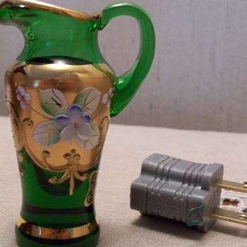 Egermann mini pitcher - Art Glass