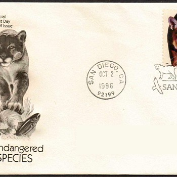"1996 - ""Florida Panther"" Stamp First Day Cover - Stamps"