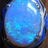 14k white gold enamel opal art deco