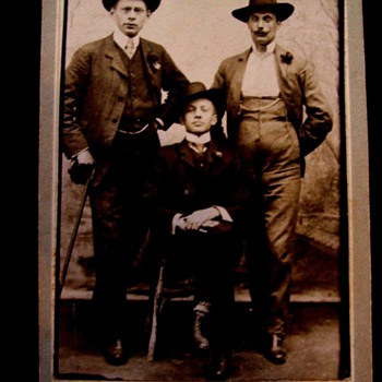 LADIES SEE VINTAGE PHOTO, WHICH OF THESE MEN (c.1910) COULD STEAL YOUR HEART WITH A KISS??