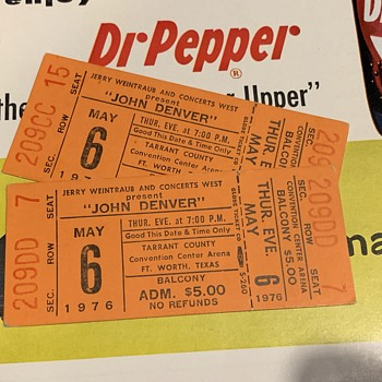 John Denver 1976 Unused Ticket  - Paper