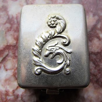 Small Repoussé Dragon lid Box with Chained Mystery Surprise Within (What is it?) - Victorian Era