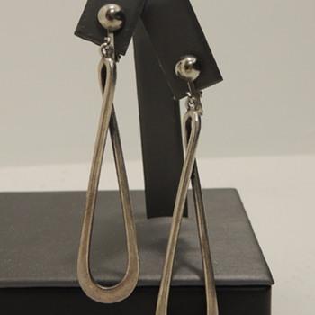Signed DAVID-ANDERSEN Clip-back Earrings