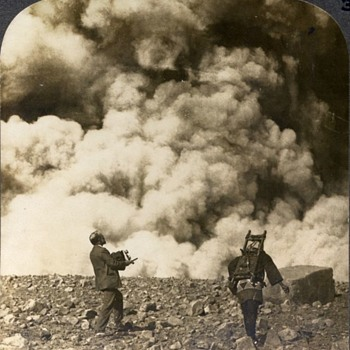 "Photographers & Their Cameras - ""A Sudden, Terrific Volcanic Explosion at the Crater of Asama-Yasma""; Japan. 1903 - Photographs"