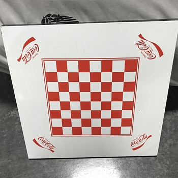 Coca Cola checker board table top and card table  - Coca-Cola