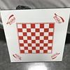 Coca Cola checker board table top and card table
