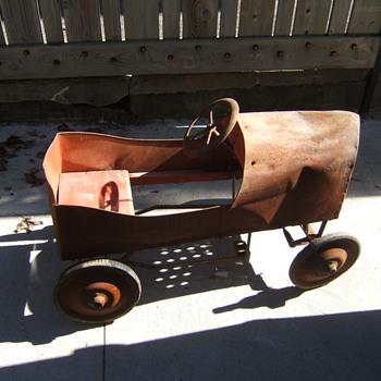 antique pedal car - Toys
