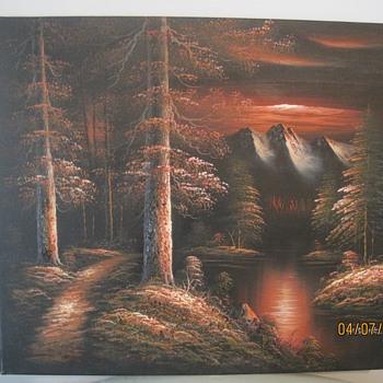 M. Scott Raised Relief Painting
