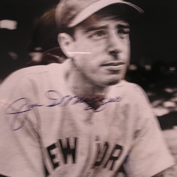 Joe DiMaggio Autographed Photo