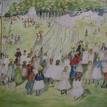 May Day, Central Park: watercolor after Maurice Prendergast - Fine Art