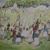 May Day, Central Park: watercolor after Maurice Prendergast