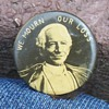 """""""We Mourn Our Loss"""" 19th C. Pinback Button"""