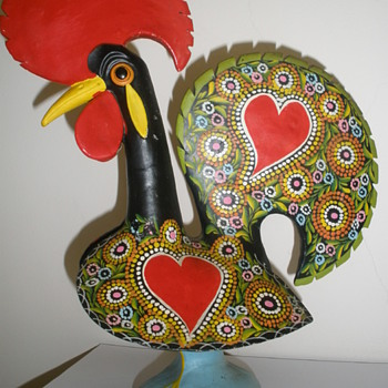 Portuguese handcraft. The very popular and worldwide known Rooster of Barcelos - Pottery
