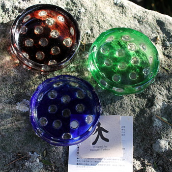 Daisuke Tashiro for Iwata Glass bowls - Art Glass
