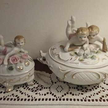 Ucagco & Ardco cherub dresser boxes, special request  - China and Dinnerware