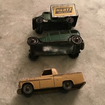 Three small model cars that had always been under my Christmas tree but I don't know how to date them - Model Cars