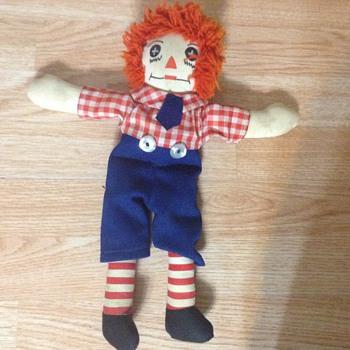 My newest Raggedy Andy doll Cloth button eyes